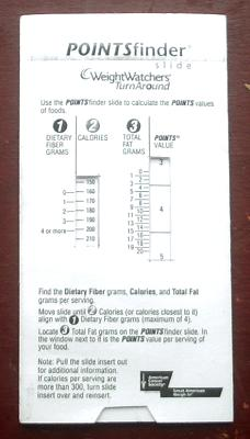 weight watchers points calculator instructions